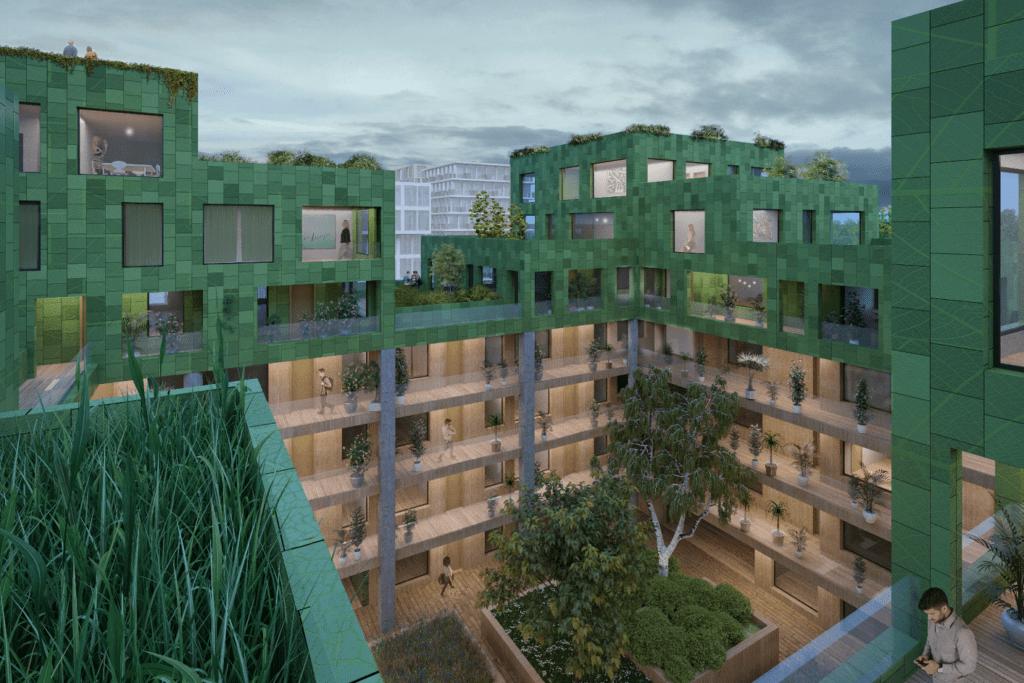 Kavel 2B - Groendak ontwerp / advies voor architectenbureau MVRDV.